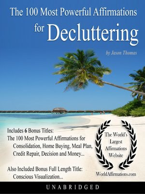 cover image of The 100 Most Powerful Affirmations for Decluttering
